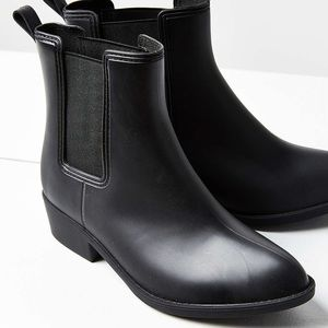 Urban Outfitters UO Black Rain Booties